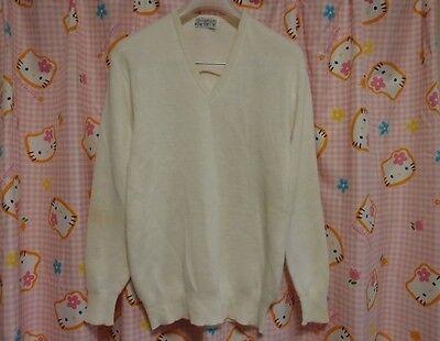 ^_^ Japanese SchoolGirl Uniform Used Sweater. Beige! Good ! Washable Sweater