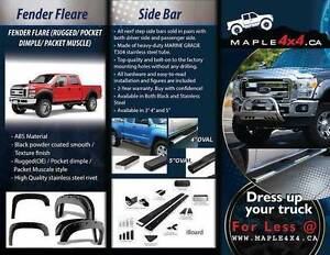 2009-2014 Ford F-150 4pcs Pocket-Riveted Textured Fender Flares Downtown-West End Greater Vancouver Area image 7