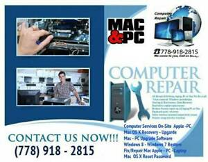Laptop Desktop Computer Repair,Data Recovery Windows Mac Apple