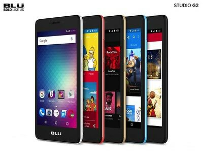 Blu Studio G2 Android 5 Display Unlocked 8Gb Cell Phone 4G Gsm Smartphone