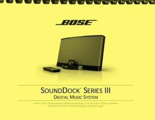 Bose SoundDock Series III 3 Digital Music System OWNER