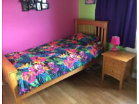M&S Single Bed and Bedside Cabinet