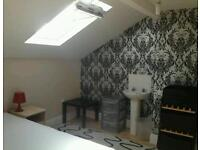 Loft room near city center/university in furnished friendly house share