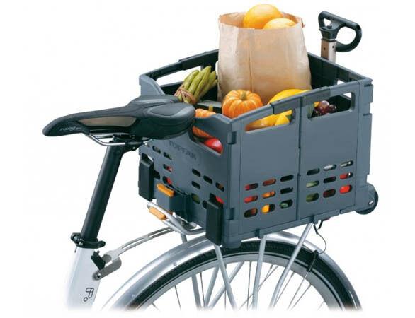 Topeak Trolley Tote MTX TB2008 Rear Back Folding Bike Bicycle Basket w/ wheels