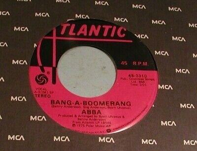 "1975 Abba "" Bang-A-Boomerang "" 45 rpm Atlantic Record"