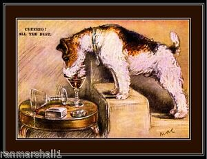 English Picture Print Wire Hair Fox Terrier Dog Art