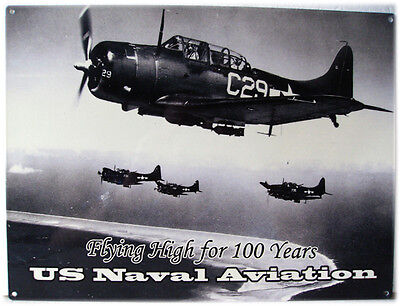 Us Naval Aviation Plane Fighter Jet Airplane Metal Sign