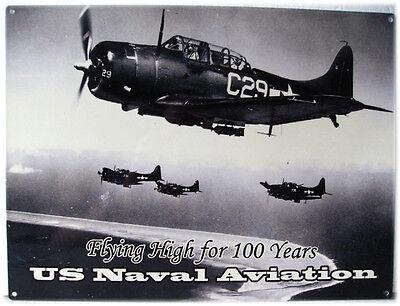 Us Naval Aviation Plane Fighter Jet Airplane Metal Sign