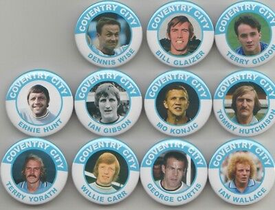 Coventry City legends set 2  magnets  x 11 38mm in size