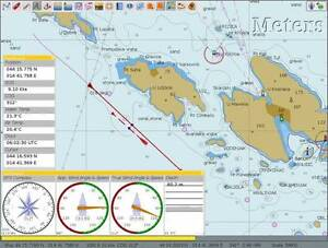 BOAT NAVIGATION software with raster and vector charts