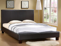 3 DAQY SALE, Faux Leather Platform bed Frame Q Or D