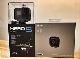 £376 GoPro Hero 5 Black and Remo, BRAND NEW, RRP £420
