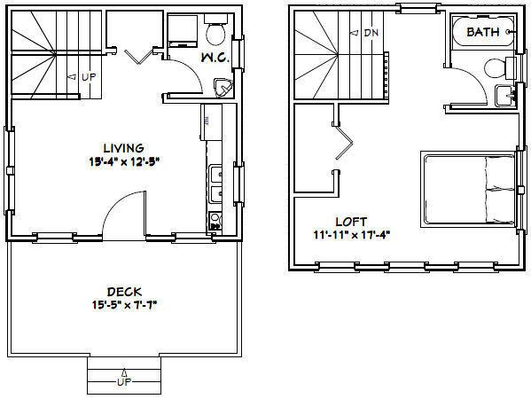 16x16 tiny house 465 sq ft pdf floor plan model for 24 ft tiny house