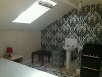 Loft room in friendly shared house near city center & Salford university