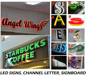 led signs, led sign letter, leds signboard, light box, custom, channel letter