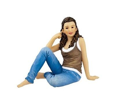 Dollhouse Miniature 1:12 Scale Modern Seated Teen Girl Doll #HW3028