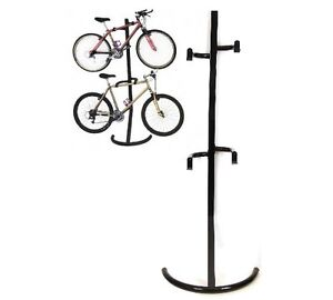 Gravity Bike Storage Rack 2 Bikes Garage Stand Bicycle
