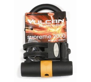 Vulcan Supreme 2000 Short Shackle Bike/Bicycle D-Lock/U-L 80mm x 140mm