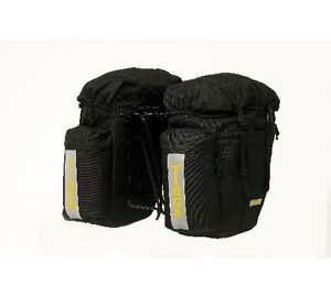 TIOGA BIKE BICYCLE COMMUTING PANNIER REAR BAG BLK PAIR