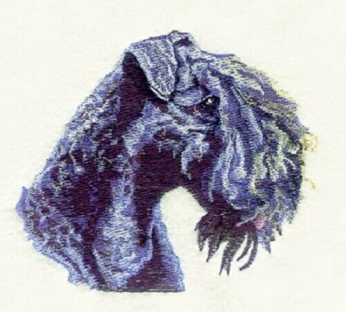 Embroidered Short-Sleeved T-Shirt - Kerry Blue Terrier BT3603 Sizes S - XXL