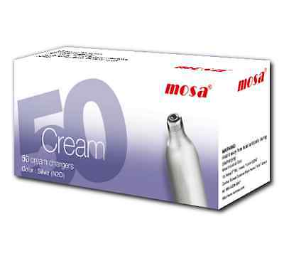 600 x MOSA CREAM CHARGERS. Quality N2O. Silver Steel. Traditional.
