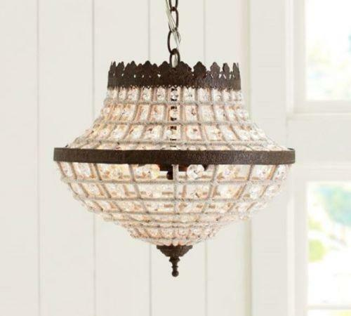 Pottery Barn Bronze Chandelier: Pottery Barn Light Fixture