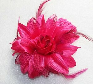 Rose flower ribbon hair clip bow crochet headband accessory for baby gril 001