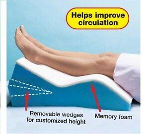 Edema Relief Memory Foam Adjustable Leg Wedge Positioner