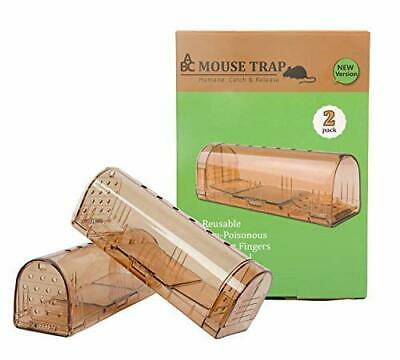 2Pcs Humane Best Mouse Trap Live Catch and Release Rat Traps No Kill Mouse