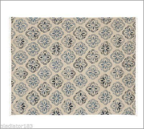 Pottery Barn Blue Rug Ebay