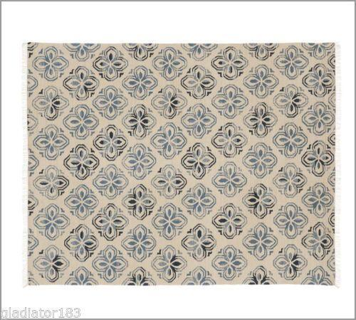 Pottery barn blue rug ebay for Pottery barn carpet runners