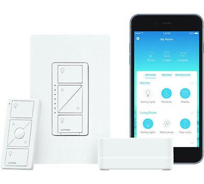 Lutron Caseta Wireless Smart Lighting Dimmer Switch Starter Kit P-bdg-pkg1w