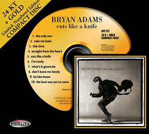 BRYAN ADAMS Cuts Like A Knife 24 KT GOLD CD Audio Fidelity (2012) NEW