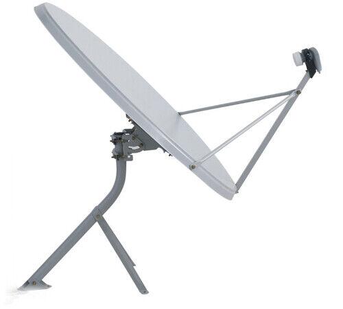 39 Inch 99cm Satellite Dish FREE TV KU BAND FTA with Tripod Mount and Single LNB