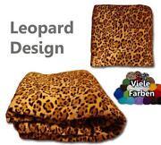 Kuscheldecke Leopard
