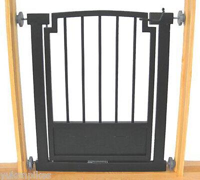 """28""""-34"""" Royal Indoor Dog & Pet Adjustable Metal Safety Gate - Black"""