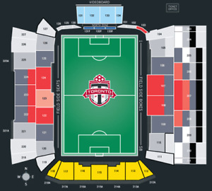 Toronto FC vs New York Red Bull - Sec 126 Row 4