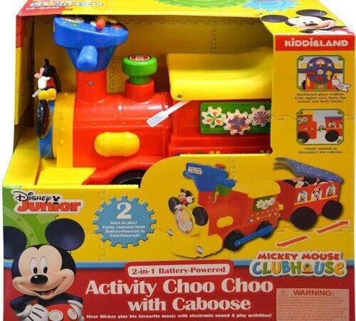 Mickey Mouse Activity 2in1 ride on choo choo with track.