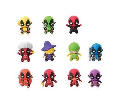 marvel comics deadpool series 2 mystery 3d foam collectible keychains