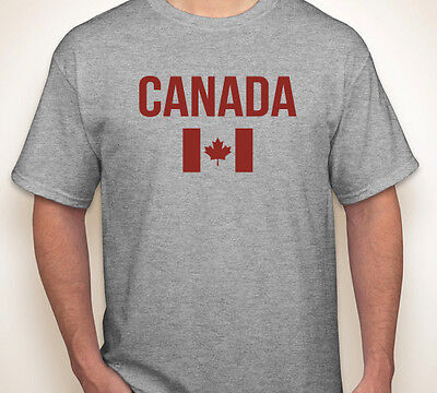 CANADA FLAG Canadian maple leaf oh born/made in pride team hockey T-shirt S-5XL (Team Canada Hockey-t-shirt)