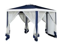 HOME 4m Hexagonal Garden Gazebo with Side Panelsby HOME by Argos304/7369