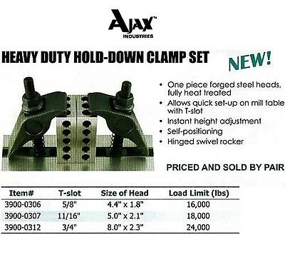 Heavy Duty Hold Down Clamp Kit For All Bridgeport 34