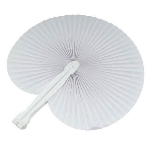 100 pezzi Ventaglio matrimonio segnaposto bomboniera wedding colore BIANCO white