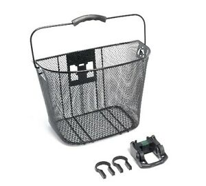 BIKECORP BICYCLE FRONT MESH  BASKET  WITH QUICK RELEASE