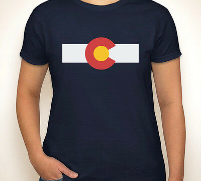 Colorado Flag Mile High Rocky Mountains Native Denver Womens T Shirt S 3Xl