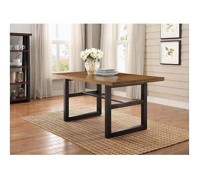 better homes and gardens mercer dining table, vintage oak finish