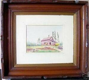 Painting watercolor O. H. MCAVOY LISTED ARTIST
