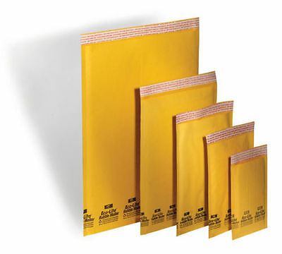 100 Kraft Bubble Mailers Padded Envelopes 30 1 30 2 20 4 20 5 Combo Pak
