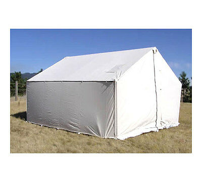 14' x 16' Canvas Wall Tent - Water & Mildew Treated 10.1 oz Army Duck Canvas, used for sale  Moscow