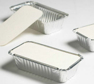 ALUMINIUM FOIL FOOD CONTAINERS + LIDS No 2 / No 6a - TAKEAWAYS OR HOME USE